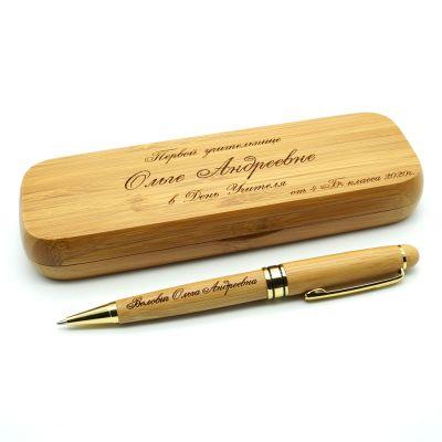 Ручка в футляре из Бамбука